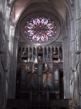 The western rose window.
