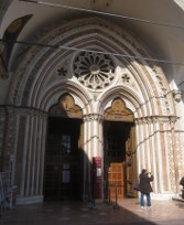 Entrance to the lower church