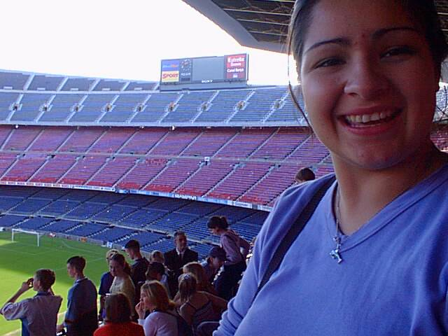 Danielle Sullivan in Nou Camp.