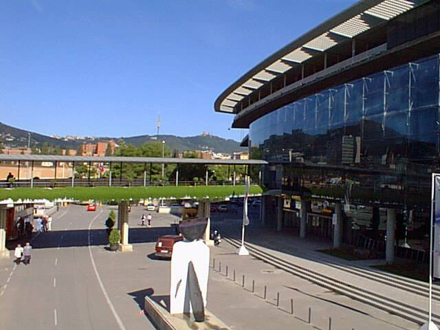 The Nou Camp Stadium from outside.