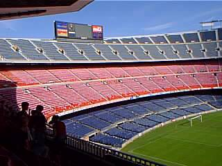 The Nou Camp Stadium, inside.
