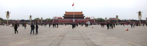 Tiananmen Square is almost incomprehensibly large - 36 times the size of Trafalgar Square.