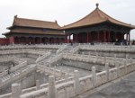 Three halls including The Hall Of Supreme Harmony sit on a large marble terrace.