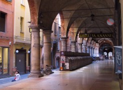 Colonnade in Bologna.