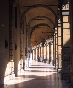 One of the colonnades of Bologna