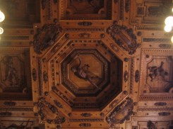 The ceiling of the anatomical theatre