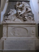 Memorial to Captain George Nicholas Hardinge, who died at sea fighting the French.