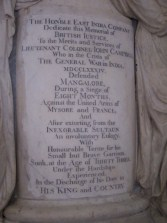 Memorial to Lieutenant Colonel John Campbell, who defended Mangalore against Tipu Sultan.