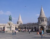 The Fisherman's Bastion, with another statue of St. Stephen