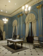 The Blue Hall in the Casa Rosada.