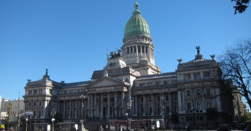 The Palace Of The Argentine National Congress.