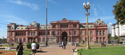 The Casa Rosada, seat of the Argentine president.
