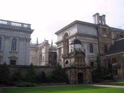 Senate House, the Cockerell Library, and the Gate Of Honour of Gonville And Caius College.