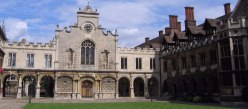 Peterhouse College, the oldest in Cambridge.
