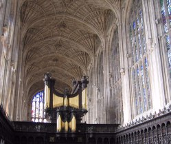 King's College Chapel (Copyright King's College, Cambridge).