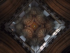 The fan-vaulted crossing tower
