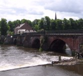 The Norman weir and Old Dee Bridge.