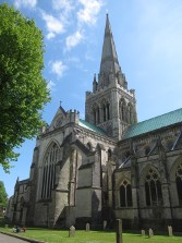 The spire was rebuilt by Sir George Gilbert Scott after it collapsed in 1861