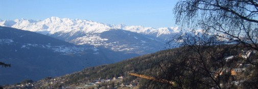 View from Crans-Montana.