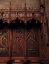 Exquisite choir stalls.