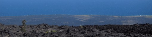 Miles and miles of lava fields