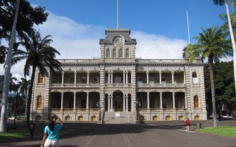 Iolani Palace, from where the old monarchs reigned