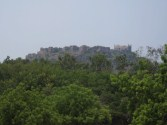 A distant view of the citadel of Golconda.