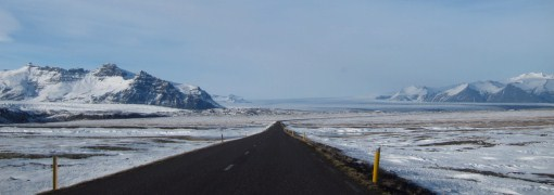 The road across the ice plains.