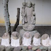A statue of Jizo, the guardian of deceased children.