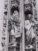 Sculpture on the cathedral.