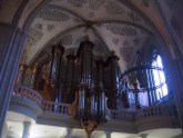The organ inside the church of St. François.