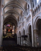 The nave of Lausanne Cathedral.