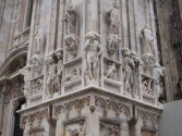 The cathedral is covered in magnificent marble sculpture