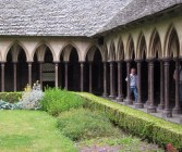 The cloister, situated on the roof over several storeys