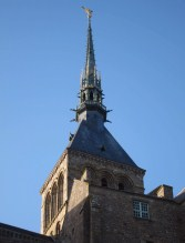The great spire of the abbey, surmounted by St. Michael
