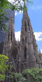 St. Patrick's cathedral, on 5th Avenue.