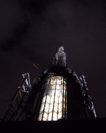 The spire of The Empire State Building.