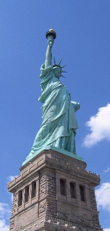 The Statue Of Liberty, a gift from France.
