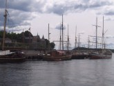 Akershus Castle, and the docks