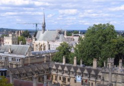 Exeter College chapel, with Brasenose College in the foreground.