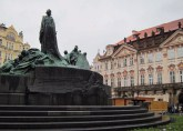 The monument to Jan Hus, one of the earliest ecclesiastical reformers (before Luther)