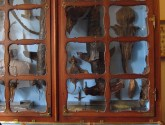 A cabinet filled with strange creatures in Strahov Monastery