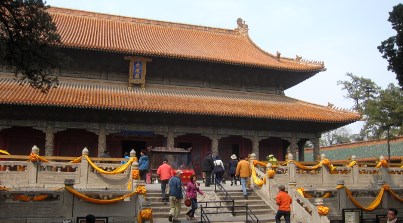 The main hall - the Hall Of Great Achievement (Dacheng Hall; this version dates from 1724).