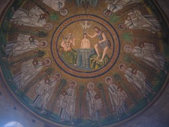 The ceiling of the slightly less ornate Arian Baptistry