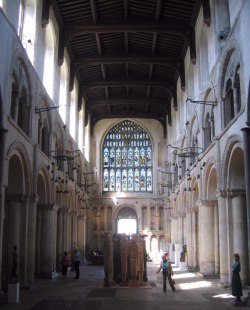 The oldest (Norman) nave in England.