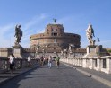 Castel Sant'Angelo (Hadrian's Mausoleum) from the Aelian Bridge.