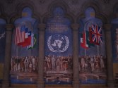 Mural commemorating the founding of the United Nations in San Francisco
