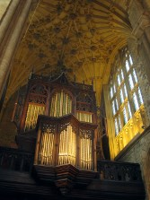 Organ in the north transept