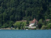 House overlooking Lake Thun