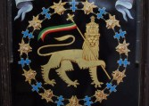 The arms of Haile Selassie I, Emperor of Ethiopia
